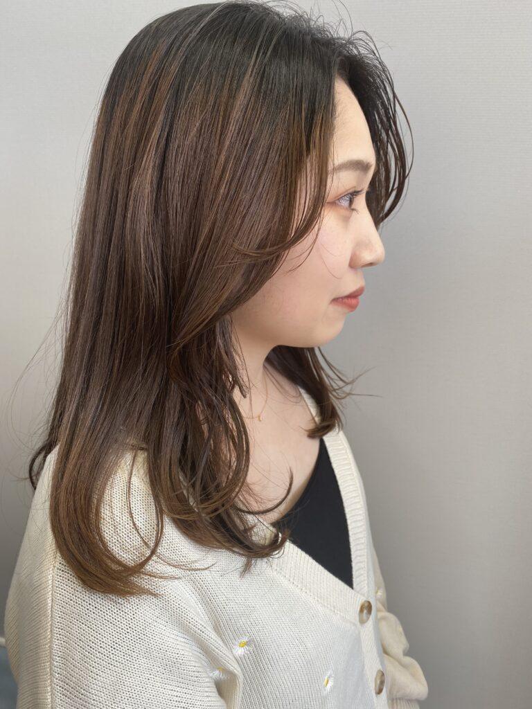 韓国風顔まわりレイヤー